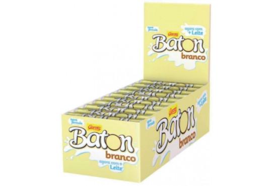 CHOC. BATON GAROTO BRANCO 16GR