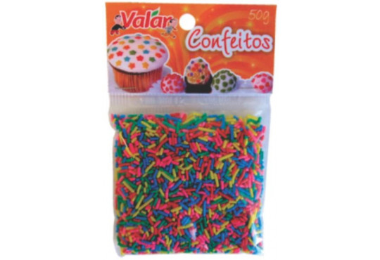 CHOC. GRANULADO COLORIDO VALAR 50GR