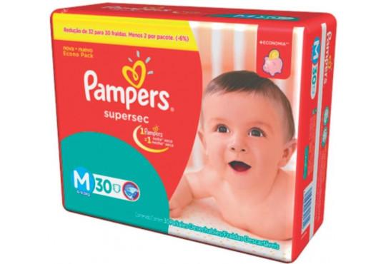 FRALDA PAMPERS SUPERSEC MD PCT C/ 30