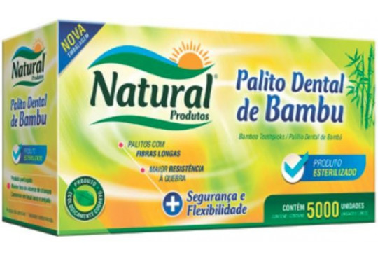 PALITO DENTAL BAMBU C/ 5000