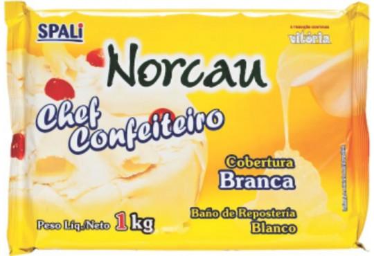CHOC. COB. NORCAU CONFEITEIRO BRANCO 1,01KG