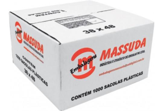 SACOLA PLAST. FARDO 38X48C/ 1000 MASSUDA OXIBIODEGRADAVEL