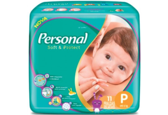 FRALDA PERSONAL/BABY REGULAR PQ C/ 11