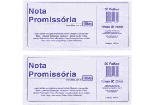 BLOCO PROMISSÓRIA 50FLH GRANDE TILIBRA