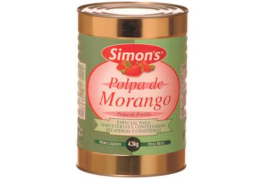 POLPA FRUTA SIMONS MORANGO 4,3KG
