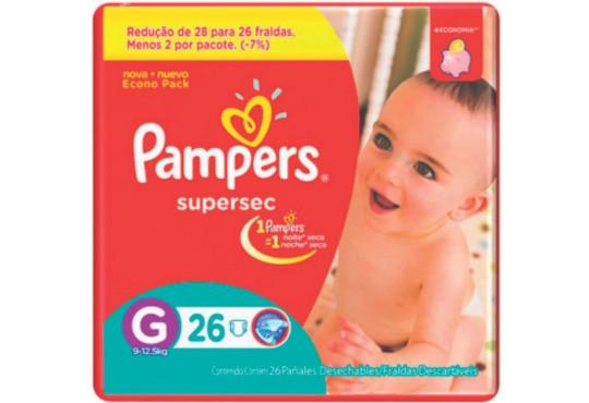 FRALDA PAMPERS SUPERSEC GR PCT C/ 26