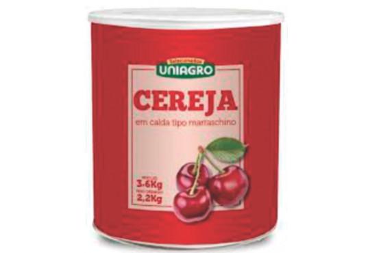 CEREJA UNIAGRO MARASQUINO LATA C/ CABO 2KG
