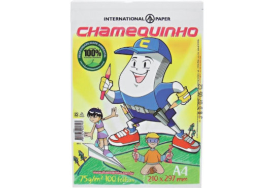 PAPEL CHAMEX A4 CHAMEQUINHO C/ 100