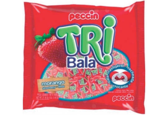 BALA PECCIN TRIBALA MORANGO 600GR