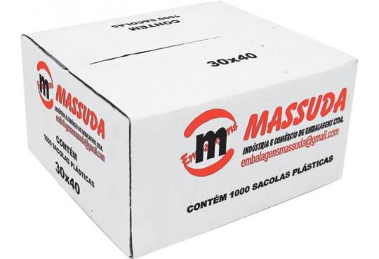 SACOLA PLAST FARDO OXIBIODEGRADAVEL MASSUDA C/ 1000