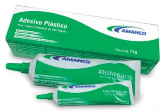 COLA P/ CANO AMANCO ADESIVA TUBO GRD. 75GR