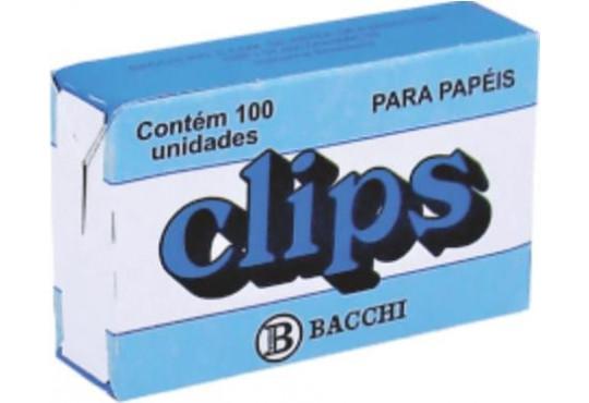 CLIPS P/ PAPEL PEQ. C/ 100 BACCHI