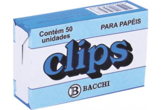 CLIPS P/ PAPEL GRD. C/ 50 BACCHI