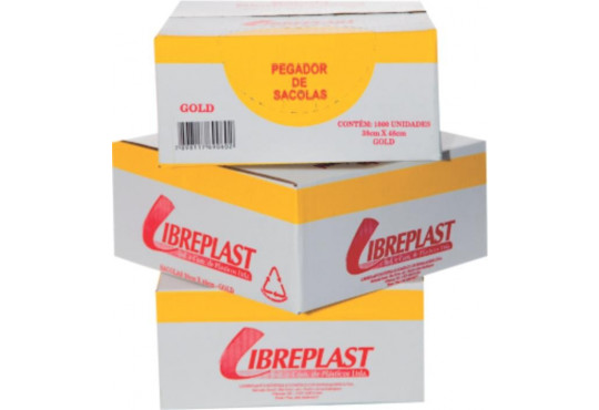 SACOLA PLAST. 48X58LIBREPLAST GOLD C/1000 CAIXA