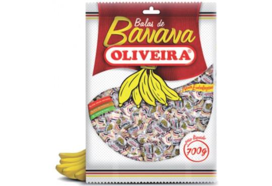 BALA BANANA OLIVEIRA 700GR