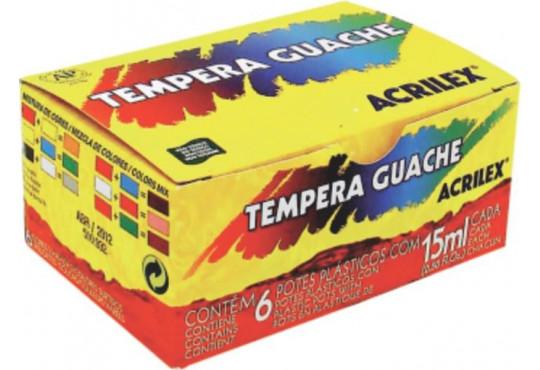 TINTA GUACHE ACRILEX C/6