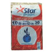 SACO P/ LIXO STARPRETO 30LT C/ 10