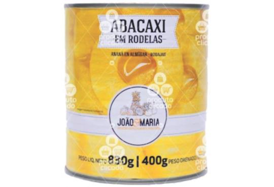 ABACAXI JOÃO E MARIA PEDAÇOS 400GR