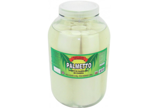 PALMITO PALMETTO INTEIRO PALMEIRA REAL 1,8KG