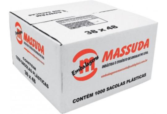 SACOLA PLAST. MASSUDA 38X48 C/ 1000 CAIXA OXIBIODEGRADAVEL