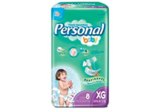 FRALDA PERSONAL/BABY REGULAR XG C/ 8