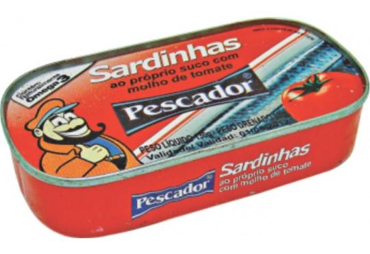 SARDINHA PESCADOR TOMATE 125GR