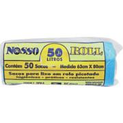 SACO P/ LIXO ROLO NOSSOAZUL 50LT C/ 50