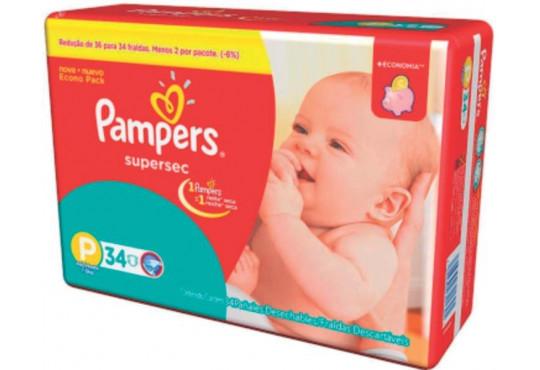 FRALDA PAMPERS SUPERSEC PQ PCT C/ 34