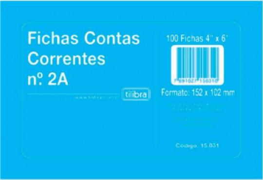 FICHA CONTA CORRENTE TILIBRA C/ 100GR