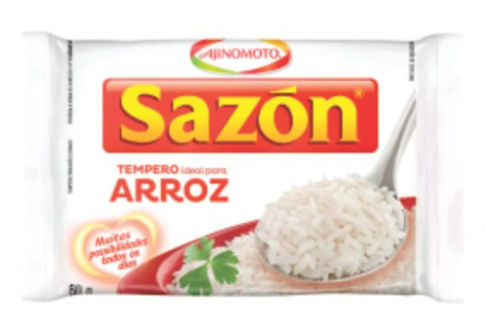 TEMPERO SAZON BRANCO ARROZ 60G6R
