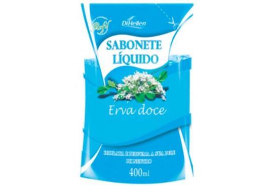 SABONETE LÍQ. DIHELLEN REFIL ERVA DOCE 400ML