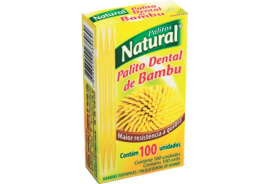 PALITO DENTALBAMBU NATURAL C/ 100