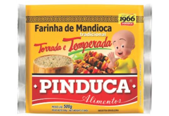 FARINHA DE MANDIOCA TEMPERADA PINDUCA 500GR
