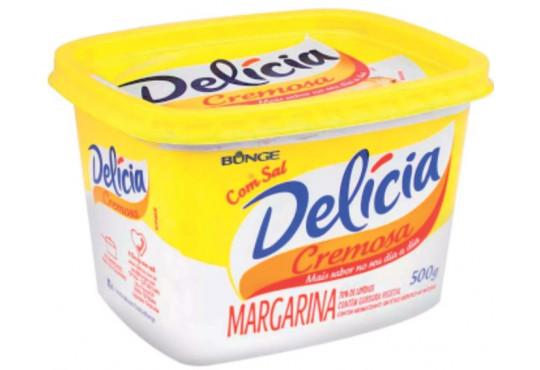 MARGARINA DELÍCIA CREMOSA COM SAL 500GR