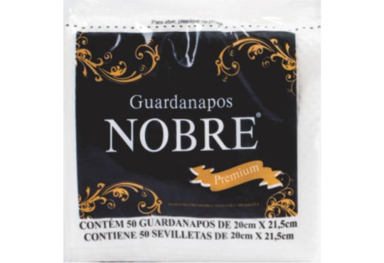 GUARDANAPO NOBRE PREMIUM 20X21,5 CX C/ 50