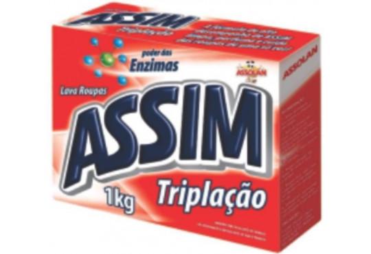 SABÃO PÓ ASSIM TRIPLICADO CX 1KG