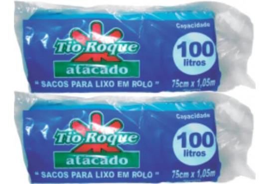 SACO P/ LIXO TIO ROQUEROLO AZUL 100LT C/ 25