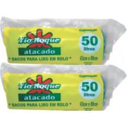 SACO P/ LIXO TIO ROQUEROLO AZUL 50LT C/ 50