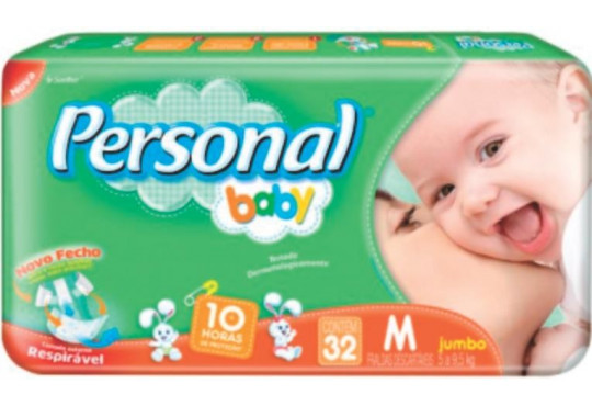 FRALDA PERSONAL BABY MEDIA C/ 32 JUMB0