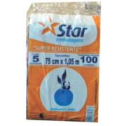 SACO P/ LIXO STARPRETO 100LT C/ 5