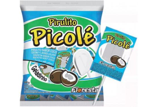 PIRULITO FLORESTAL PICOLÉ COCO C/ 50