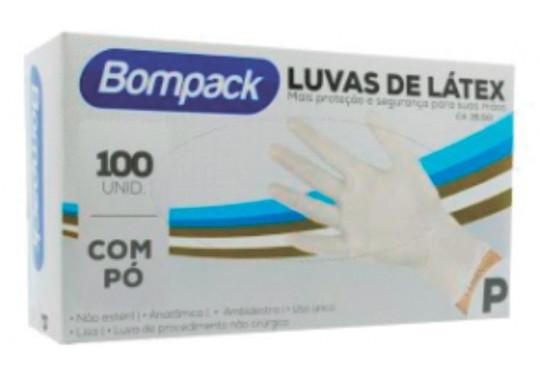 LUVA LATEX BOMPACK PROCEDIMENTO P C/ 100