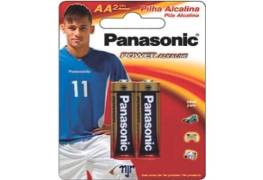 PILHA PANASONIC AA ALCALINA PEQ. C/ 2
