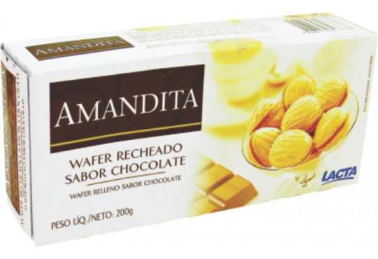 LANCHE WAFER AMANDITA LACTA 200GR