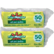 SACO P/ LIXO TIO ROQUEROLINHO AZUL RESIS 50LT C/ 10