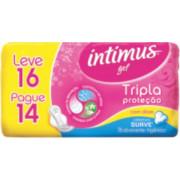ABS. INTIMUS GEL C/ ABAS SUAVE LEVE 16 PAGUE 14 UNIDADES