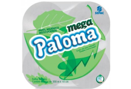 PAPEL HIG. ROLÃO PALOMA 8X300 MT MEGA