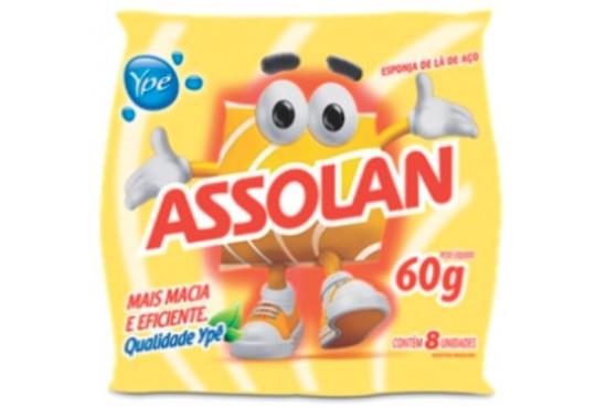 LÃ DE AÇO ASSOLAN C/ 14 60GR