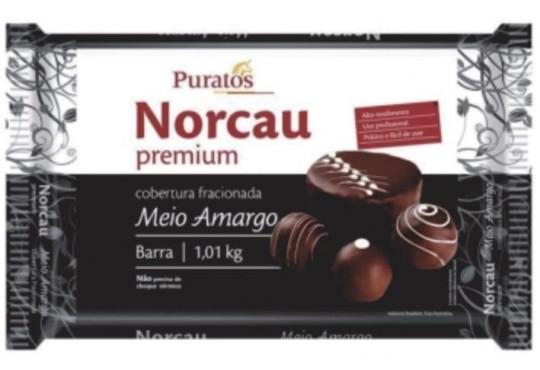 CHOC. COB. NORCAU PREMIUM MEIO AMARGO 1,01KG