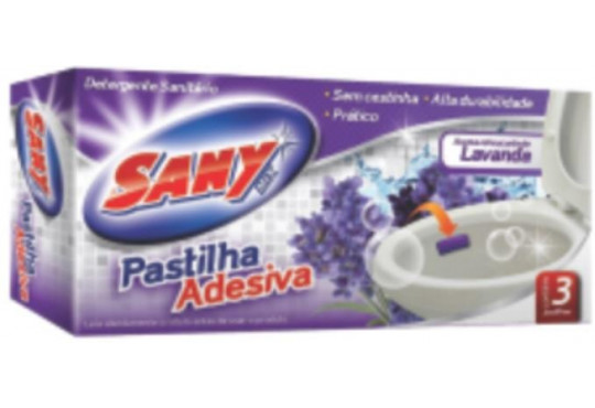 DESINF. PASTILHA SANY ADESIVA LAVANDA C/3